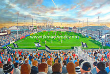 More details for naughton park stadium fine art a4 print - widnes vikings rugby league club