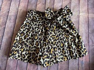J. Crew NWT Cotton Poplin Bow Tie Waist Shorts Leopard Print Size 4 Culottes