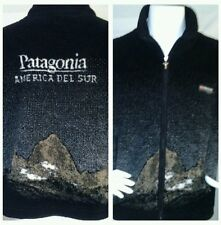 MULUC PATAGONIA ARGENTINA Thick Fleece Lined Jacket Black Full Zip Sz S