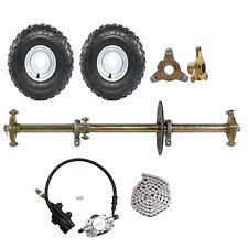 "New listing 32"" Go Kart Rear Live Axle Kit Brake Rotor 6"" Wheels Sprocket Drift Trike Quad"