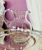 Krug Glaskrug Kanne Karaffe Glas Abriss wunderschön schlicht 1,1 L