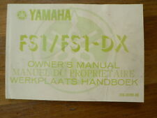 YAMAHA OWNER'S MANUAL FS1 AND FS1-DX MOPED BROMFIETS MOFA MANUEL DU PROPRIETAIRE