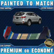 NEW Painted To Match - Rear Bumper for 2017-2019 Hyundai Santa Fe w/ Park Assist