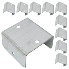 More details for 10, 20 or 100 fence & trellis clips bracket panel fixing garden post fencing