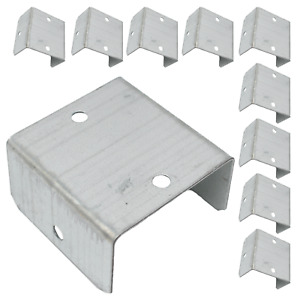 10, 20 OR 100 FENCE & TRELLIS CLIPS BRACKET PANEL FIXING GARDEN POST FENCING