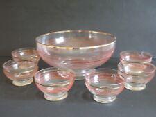 Antigua ponchera licorera vidrio cristal VINTAGE