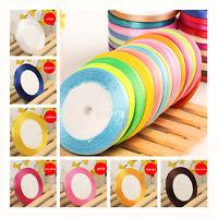 wholesale 25 Yard Multicolor Satin Ribbon Wedding Sewing Embellishment 5MM