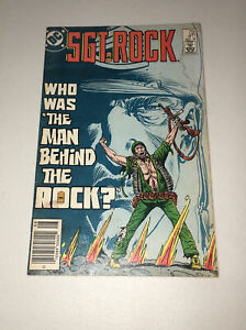 Sgt Rock #411 DC Comic 1986 Who Was The Man Behind The Rock? Good
