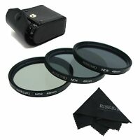 3pcs 49 49mm Neutral Density ND2 ND4 ND8 Grey ND 2 4 8 Filter Set KIT with Case