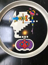 Peter Max Tin Round Tray Used By Peter Max