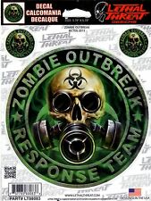 ZOMBIE OUTBREAK #LT88083 (3 DECALS IN ALL)
