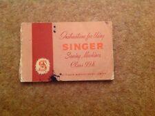 Vintage Singer 99K reverse classic hand crank sewing machine Instructions