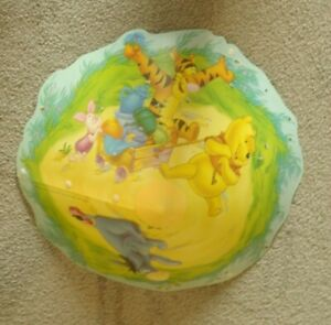 Disney Winnie The Pooh Light Lamp Shade Children's Easy Fit Washable Plastic