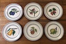 More details for job lot of 6 ceramic fruit plates. estrela de conimbriga portugal