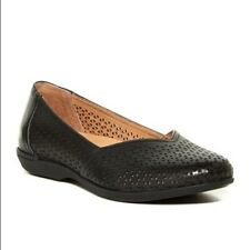 Dansko Neely Flats 39 8.5 9 Black Perforated Leather Comfort Shoes