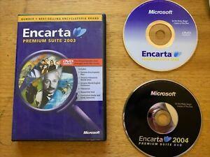 Microsoft Encarta Premium Suite 2003 & 2004 PC DVDROM