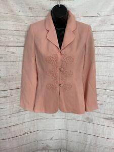 Sophisticate Petite Women's Pink Blazer Long Sleeve Size 0