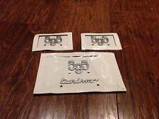 595  Fiat 500/Abarth badge x2 and 595 turismo badge