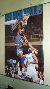 SHAQUILLE O'NEAL Orlando Magic Vintage Basketball POSTER!