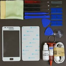 Samsung Galaxy S2 Front Glass Screen Replacement Repair Kit WHITE
