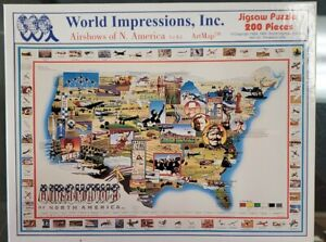 Airshows of North America ArtMap 200 piece jigsaw puzzle Brand New Sealed!!