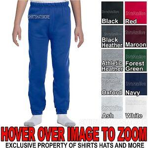 Youth Sweatpants Boys Girls Child Jerzees Elastic Bottom No Pocket S-XL NEW