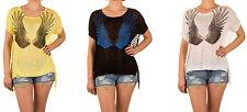 Kurzarm Damen-Pullover aus Viskose ohne Verschluss