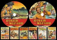 Rover & Wizard UK Comic On Two PC DVD Rom's (CBR FORMAT)