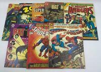 Lot Of 8 Marvel Treasury Edition Comics Batman,Spiderman,Superman, Avengers