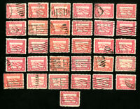 US Stamps # 402 F-VF Used lot of 31 Scott Value $90.00