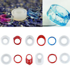 6pcs DIY Silicone Handmade Ring Mold for Resin Epoxy Jewelry Making Craft Tool