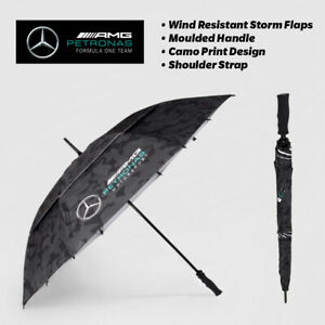 NEW MERCEDES UMBRELLA AMG F1 TEAM GOLF OFFICIAL CAMO LEWIS HAMILTON FORMULA 1