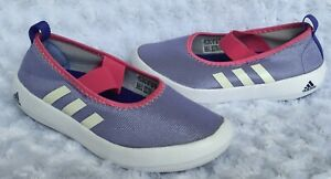 NEW adidas Little Girls Slip On Sparkly Sneakers-Purple (Size 13)
