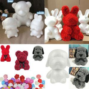 White Polystyrene Styrofoam Foam Bear Dog Rabbit Modelling DIY Father's Day Gift