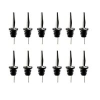 12Pcs Liquor Spirit Pourer Flow Wine Bottle Pour Spout Stopper Stainless Steel