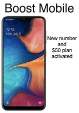 "Samsung Galaxy a10 32Gb 5.8"" 4G LTE Boost Mobile +new number+free month service"