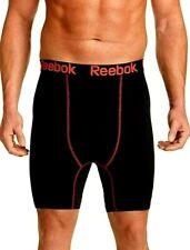 Reebok Mens Performance Training Workout Boxer Briefs Underwear Black and Red