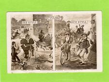 Comic Cycling RP pc used 1909 Fordsburg  Transvaal postmark Bamforth Ref D357