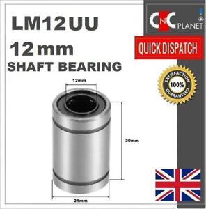 LM12UU 12mm Linear shaft bar Rail slide Bearing 3D Printer CNC machine UK FAST