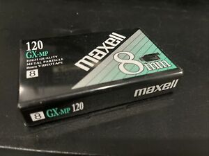 1 Maxell GX-MP 120 Minute 8mm Blank Tape  Camcorder Videotapes NIP Sealed