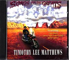 Timothy Lee Matthews: Songs For The Greats CD (Gold City Horns) Blues/Covers