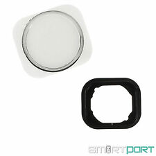 iPHONE 5 5C HOME BUTTON TASTE KNOPF IM iPHONE 5S DESIGN LOOK STYLE SILBER WEISS
