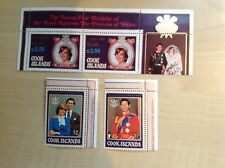 Cook Islands Stamps Overprints SG 1124-1127 Lady Diana. Unmounted Mint