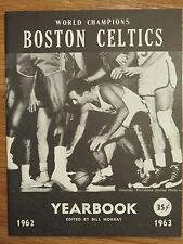 1962-63 BOSTON CELTICS Yearbook BOB COUSY BILL RUSSELL JOHN HAVLICEK Rookie