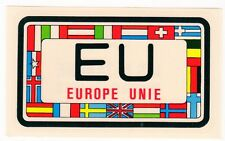 figurina U.S.A. TARGHE NUMBER PLATES EDIZIONE FIGURINA CLUB NEW EUROPE UNIE