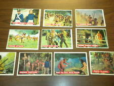10 DAVY CROCKETT cards (4-31) Topps 1956 Orange back - DISNEY - FESS PARKER lot