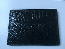 Ovadia & Sons New York Navy Crocodile Alligator 4 slots and 1 top card holder