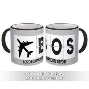 Gift Mug : USA Boston Logan Airport Massachusetts BOS Airline Travel AIRPORT