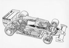 Renault RS11 cutaway drawing 1979. Vintage F1 photo. L554