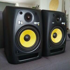 "KRK Rokit 6 RP6 G2 Pro Active Powered 6"" DJ Studio Monitor Speaker (Pair)"
